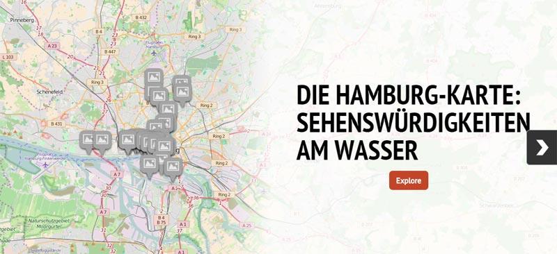 Hamburg Karte Sehenswurdigkeiten.Interaktive Karte Hamburgs Sehenswurdigkeiten Am Wasser