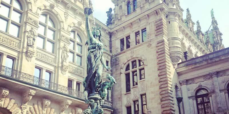 Das historische Hamburger Rathaus